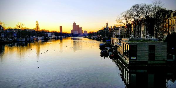 Running in Amsterdam Amstel morning